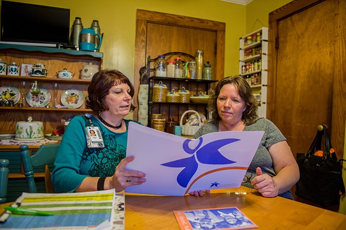 Patient family member collaborates with Transition Support Program member