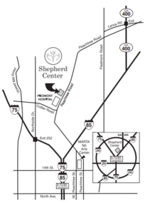 Shepherd Center Map