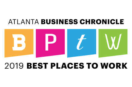 Logo for Atlanta Business Chronicle 2019 Best Places to Work
