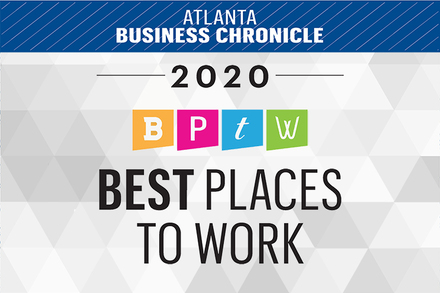 Logo for Atlanta Business Chronicle 2020 Best Places to Work
