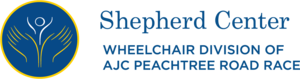 Logo of Shepherd Center Wheelchair Division of AJC Peachtree Road Race
