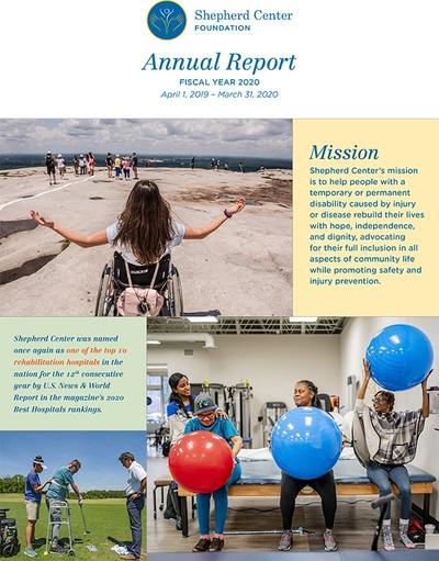 Cover page for 2020 Shepherd Center Foundation Annual Report