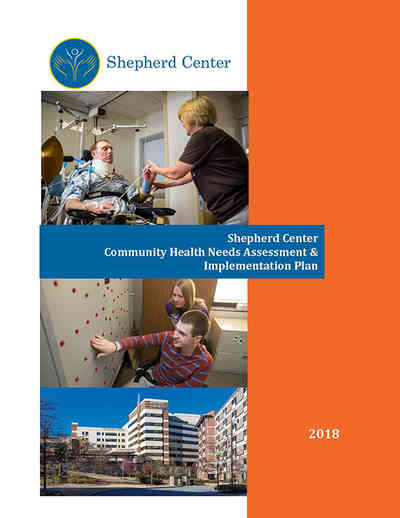Cover page for 2018 Community Health Needs Assessment Report by Shepherd Center