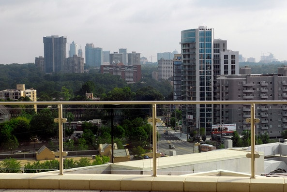 A terrace at Shepherd Center in Atlanta, Georgia, overlooking the city