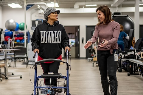 Multiple Sclerosis patient in treatment therapy at Shepherd Center