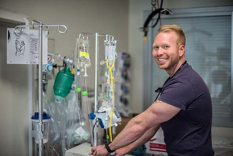 Nurse Michael Marshall in Shepherd Center ICU