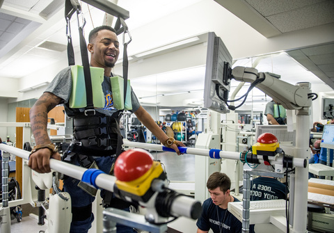 Patient Devon Gales participates in Shepherd Center's Beyond Therapy rehabilitation program