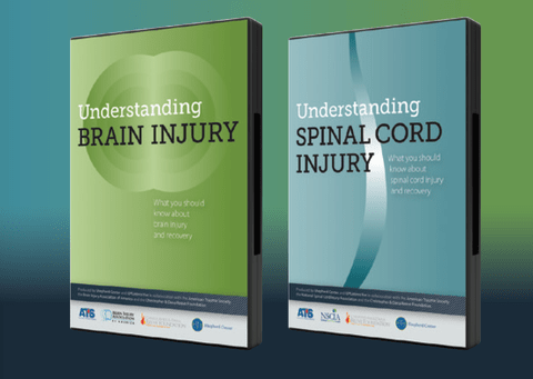 Understanding Spinal Cord Injury & Understanding Brain Injury video covers