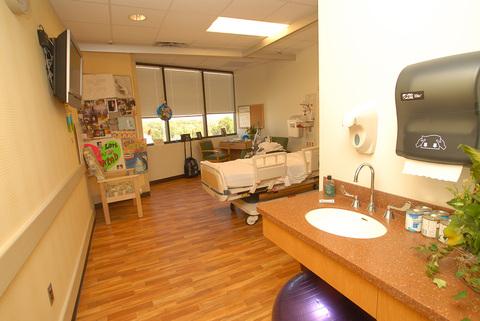 Inpatient room at Shepherd Center's Georgia rehabilitation hospital