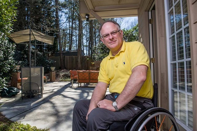 Former spinal cord injury patient Ken Johnson