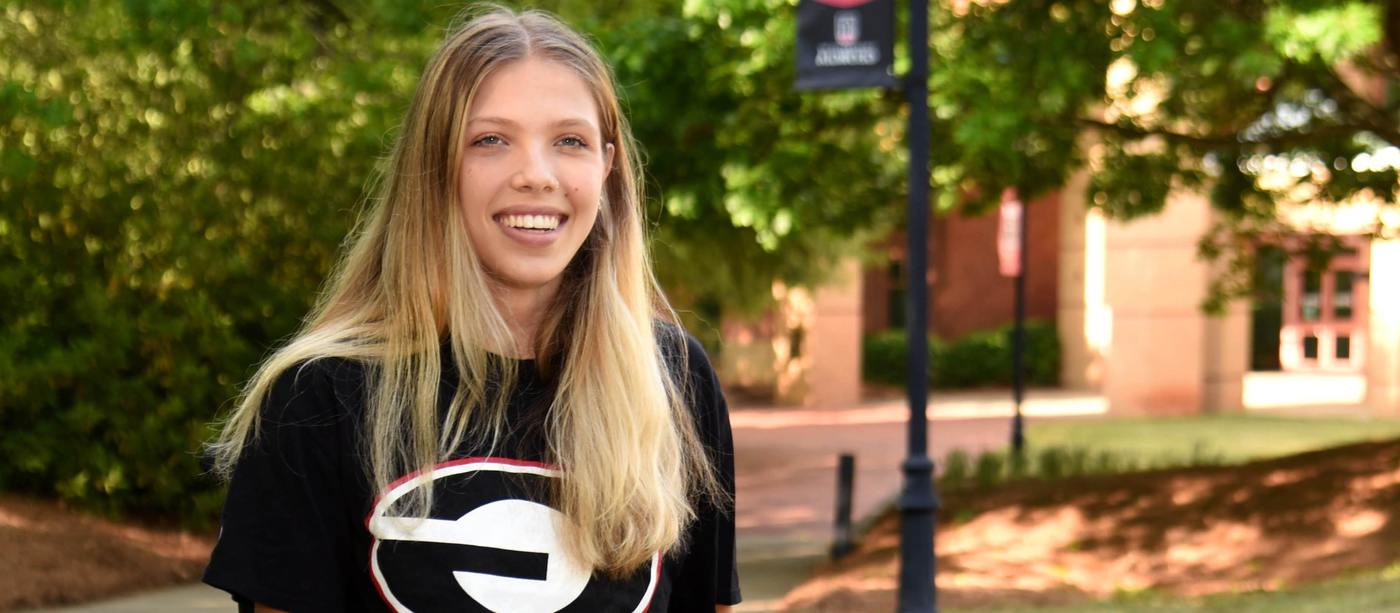 Karla Dougan, a UGA student and former Shepherd Center patient